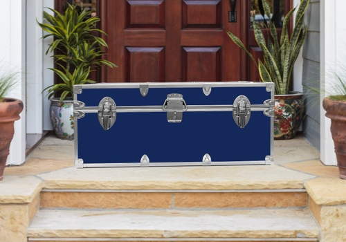 Ship trunks to camp